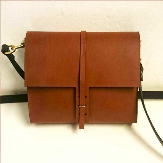 L & F Tan leather satchel